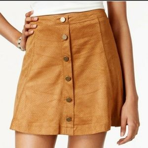 AMERICAN RAG PLUS SIZE FAUX SUEDE SKIRT